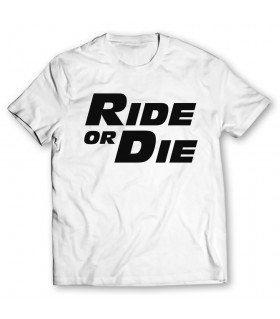 ride or die printed graphic t-shirt